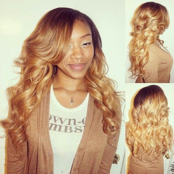 Black Hair With Blonde Tips Weave