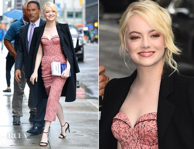Emma Stone In Ulyana Sergeenko Demi Couture – The Late Show with Stephen Colbert