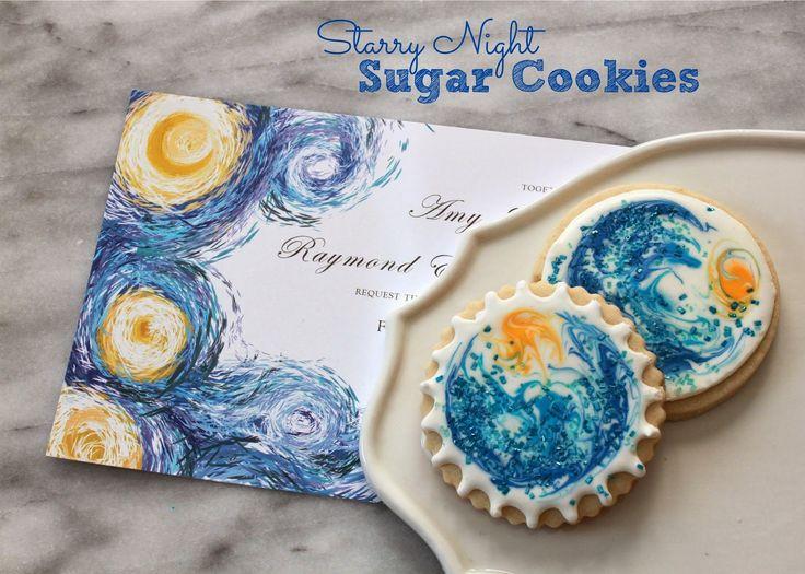 Starry Night Sugar Cookies (Tutorial) | Ideal | Pinterest ...