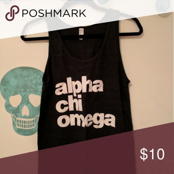 An Alpha Chi Omega tank top Loose and flowy tank top with the classic lettering stating Alpha Chi Omega Tops Tank Tops