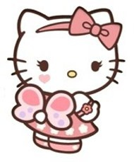 I love Hello Kitty with eyelashes, but even more with a butterfly. This would be a very cute tattoo, but I'd change the butterfly to be a little prettier. Love it!!!