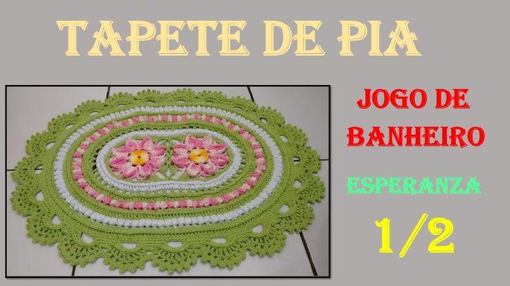 Tapete de Crochê Jogo de Banheiro Esperanza 1/2 por Wilma Crochê