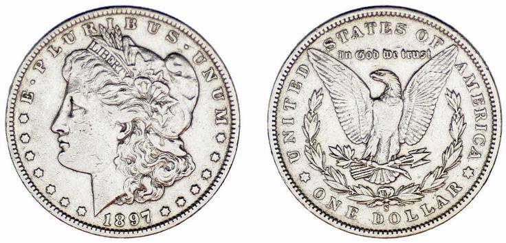 1 SILVER US DOLLAR / 1 DÓLAR MORGAN PLATA. SAN FRANCISCO 1897. VF+/MBC+.