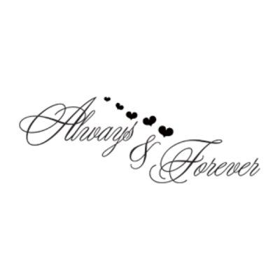 Style and Apply Always and Forever Love Wall Decal Size