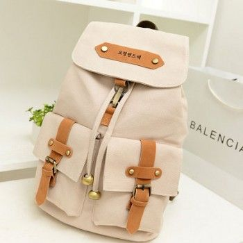 Retro College Style Cute Backpacks for only $26.90 ,cheap Fashion Backpacks - Fashion Bags online shopping,This Retro College Style Cute Backpacks have two small bag in front of the backpack.It is very cute and beautiful.