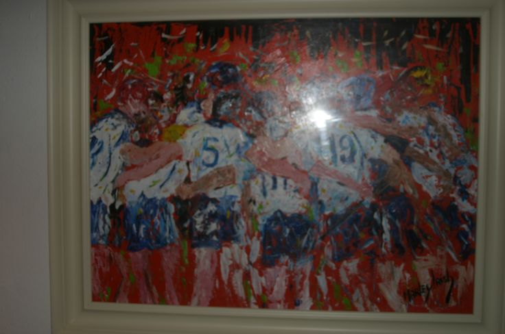 52. The Waterford Hurlers, Acrylic, €1800 by Marley Irish