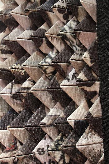 Alison Willoughby fabric manipulation - creating textures with textiles