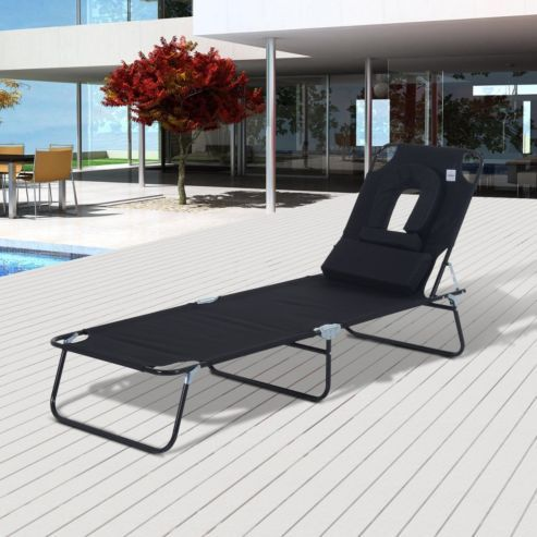 Outsunny Folding Recliner Portable Garden Lounger comes in Black. 25  unique Garden loungers ideas on Pinterest   Cheap sun loungers