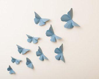 Fare le vostre pareti pop con arte parete farfalla 3D. Farfalle di carta aggiungono un tocco di fantasia al vostro vivaio, camera bambini, Aula &