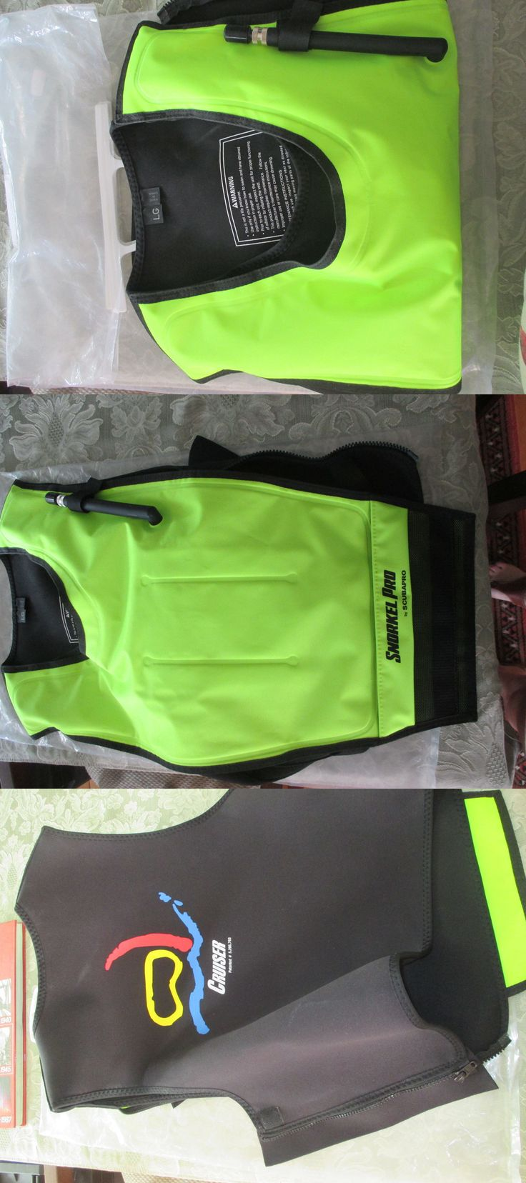Buoyancy Compensators 16053: Scubapro Cruiser Snorkeling Vest Size Lg, Green Black -> BUY IT NOW ONLY: $55 on eBay!