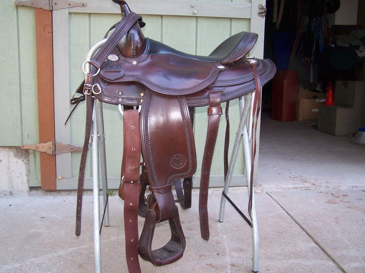 circle y  western saddle for sale in three_oak's Garage Sale in LakeNebagamon , WI for $900. all leather western saddle, full quarter horse bars, round skirt, comes with breast plate and rear cinch.  Used very little it is the model Park and Trail and is very comfortable for both horse and rider.