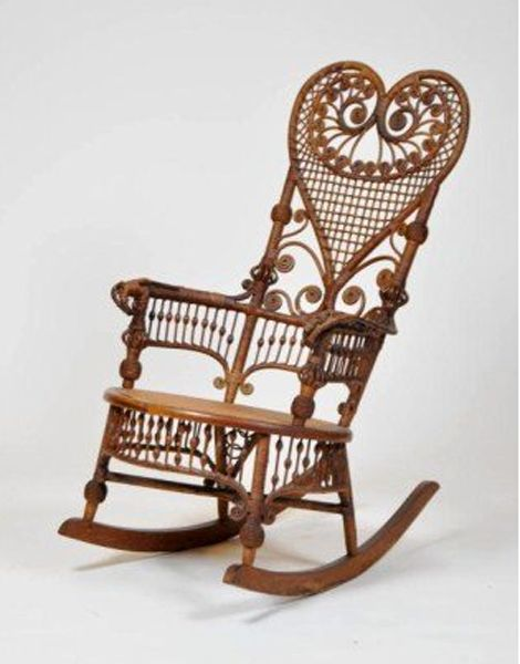 victorian wicker rocking chair - would love to get my hands on this and use some Annie Sloan Chalk Paint! :)