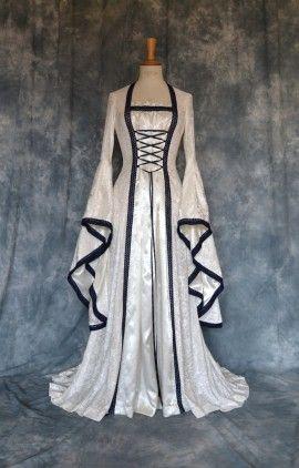 : Celtic Wedding Dresses - Classical Medieval Renaissance Elvish Wedding Dress by Frockfollies thumbnail version