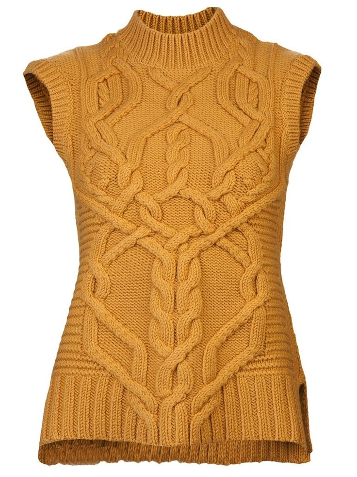 8 Sweater Vests That Are Anything but Stuffy : The rich mustard hue of Derek Lam's Knit Sweater Vest ($890) is perfect for Fall, and would look great against a leopard print belt.