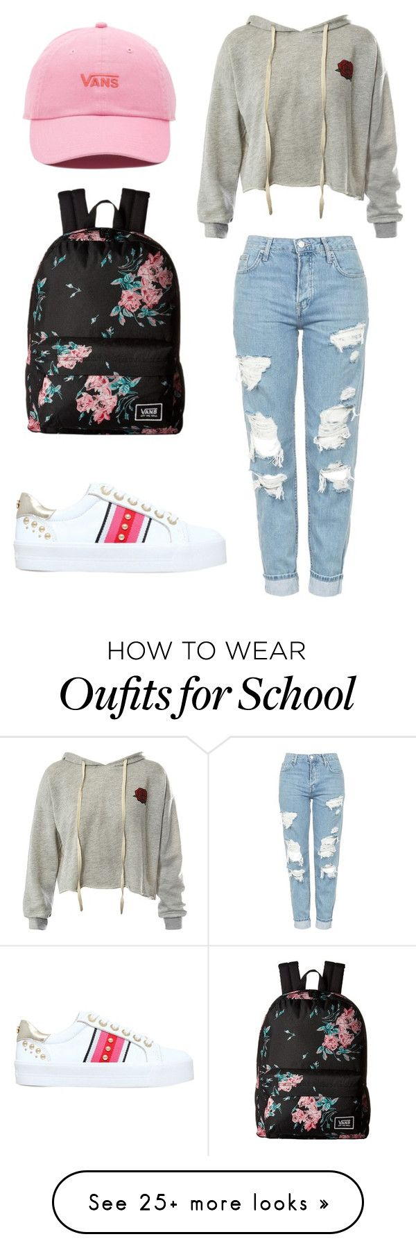 """School outfits"" by aneta200 on Polyvore featuring Sans Souci, Carvela, Topshop and Vans"