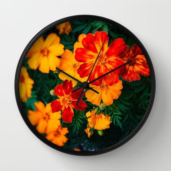 Colorful flowers #wallclock #clock #flowers