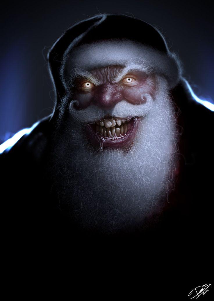 Creepy Santa by Disse86.deviantart.com on @DeviantArt ...
