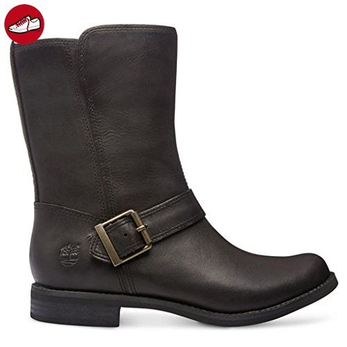 Timberland A123K Damen Savin Hill Mid Zip Stiefeletten; Boots Leder Black 41,5 EU - Timberland schuhe (*Partner-Link)