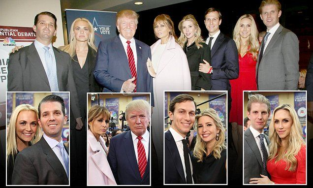 Donald Trump's family show their support for him at Republican debate