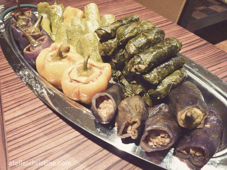Bulgur and Beef Stuffed Vegetables, a Levantine Recipe