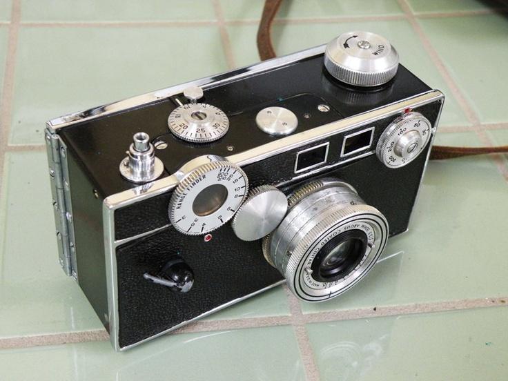 Argus C3 Brick Camera with Flash and Leather Case Photography Black Chrome. $45.00, via Etsy.