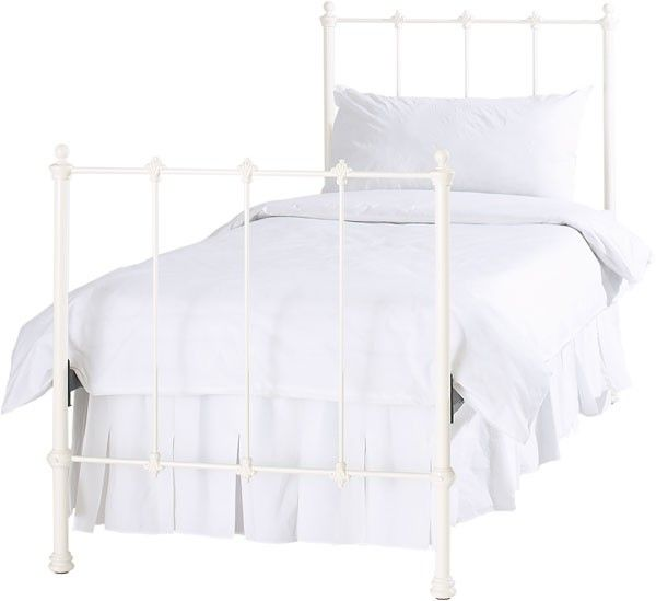 ivory white metal bed obc paris ivory iron metal bed frame single