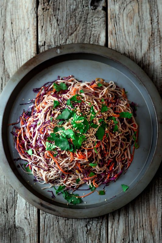 Shredded Vegetable and Soba Noodle Salad