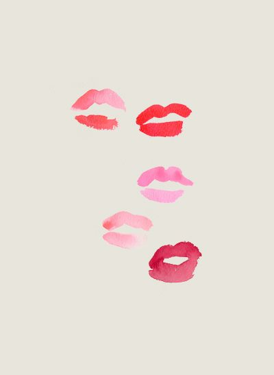 bright colored lips! would love to frame this and put this in the powder room.: Kiss X5, Red Lips, Pink Lips, Pink Kiss, Lipsticks Prints, Kiss Kiss, Color Lips, Powder Rooms, Spring Lipsticks