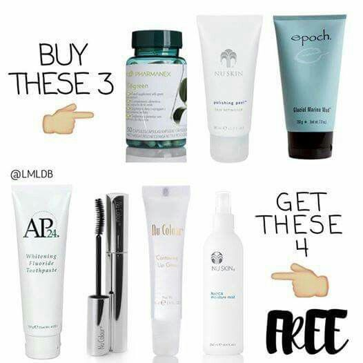 Purchase green tea capsules , glacial marine mud and microdermabrasion in a tube and get collagen gloss , curling mascara , moisture mist and whitening toothpaste for FREE