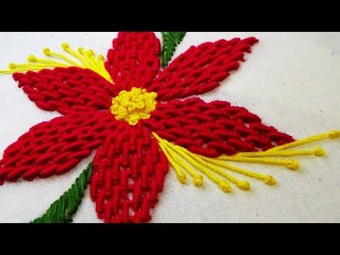 Hand Embroidery Buttonhole & Net Stitch Flowers Design # 23) by MaaCreative - YouTube