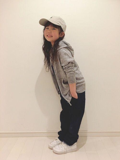 パーカー×サロペ♡ 切りっぱなしの裾が可愛い♡♡ きーちゃんも進級♡ 2年生になりました♪ ランドセ