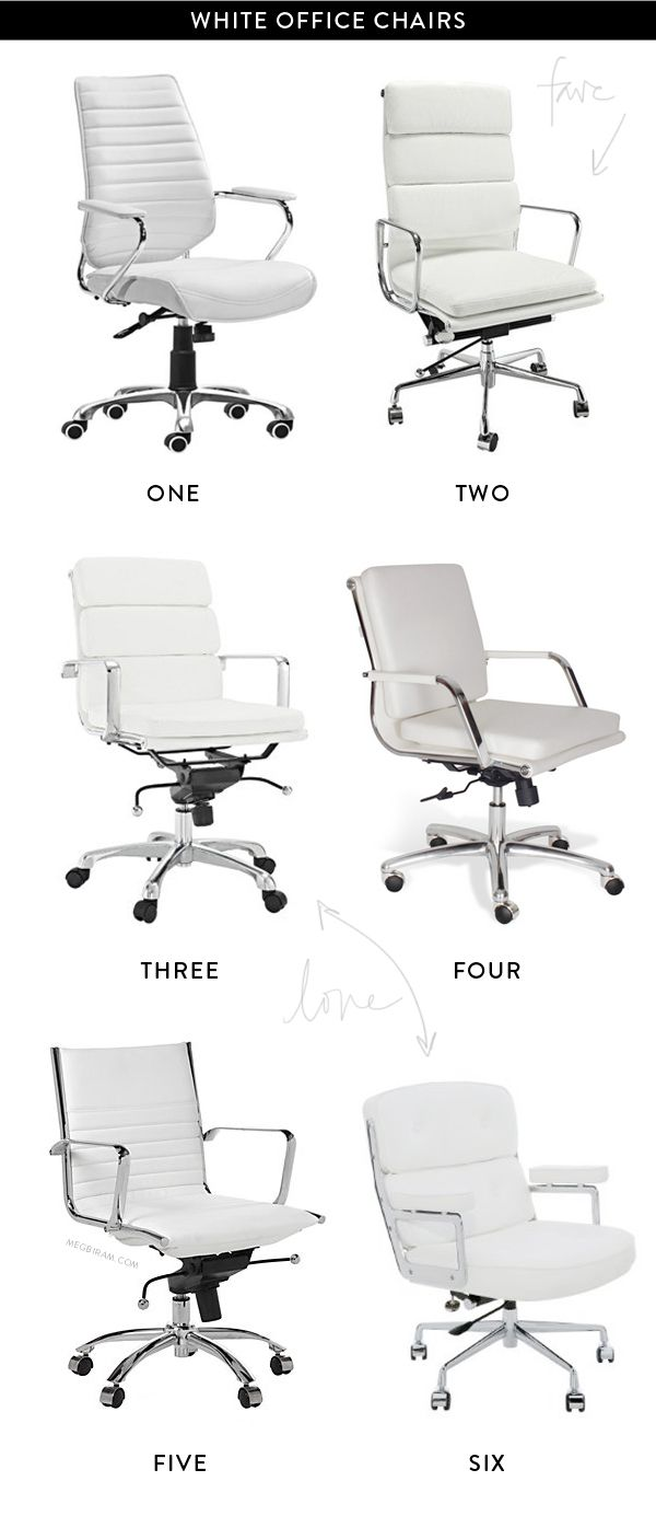 25 best ideas about White Leather Office Chair on Pinterest