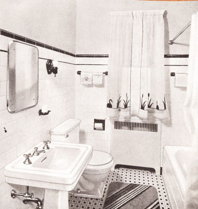 29 best green black 1940 retro bathroom images on for 1940s bathroom decor