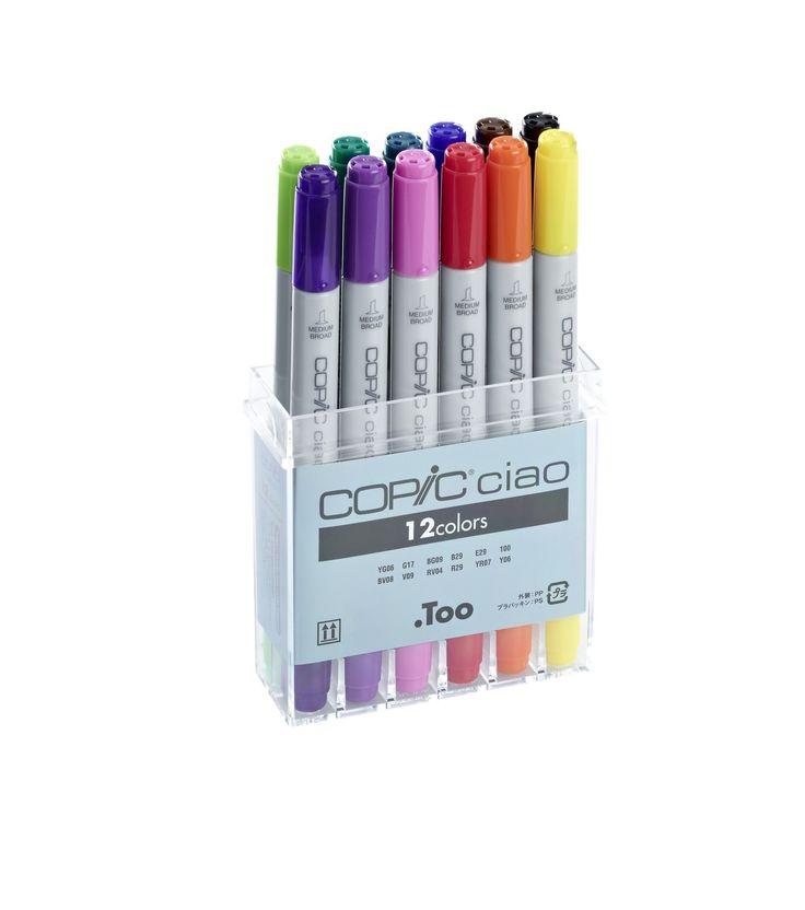 Copic Ciao set, 12 kleuren - Copic Ciao Marker Sets - Copic sets - Copic - Tekenen & ontwerpen