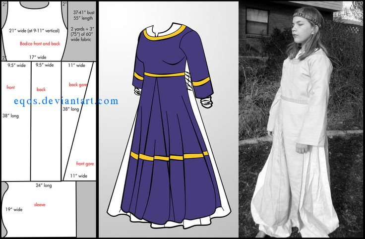 Open-sided Overdress    #SCA #Garb