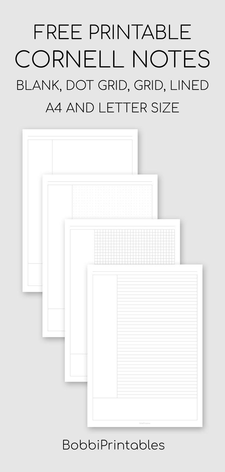 Free Printable Cornell Notes Template Cornell Notes Cornell Notes Template Printable Notes Templates