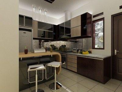 Model Kitchen Set Minimalis Modern yang cocok untuk dapur mungil Anda.