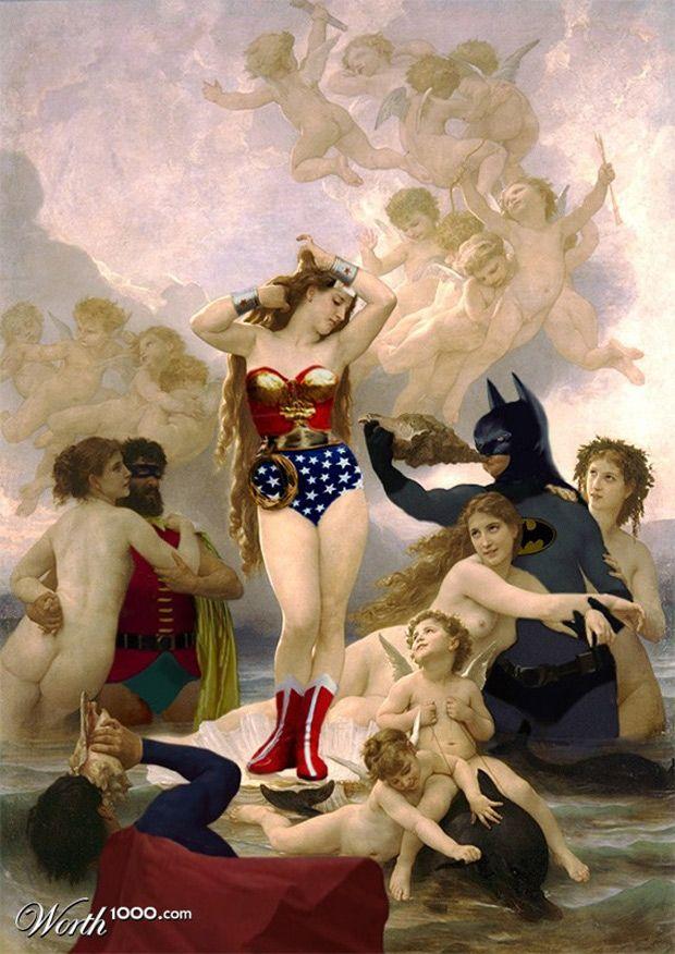Des peintures classiques recréées avec des héros de Comics
