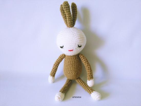 amigurumi tres pelos  lana acrílica,relleno de fibra ganchillo,crochet