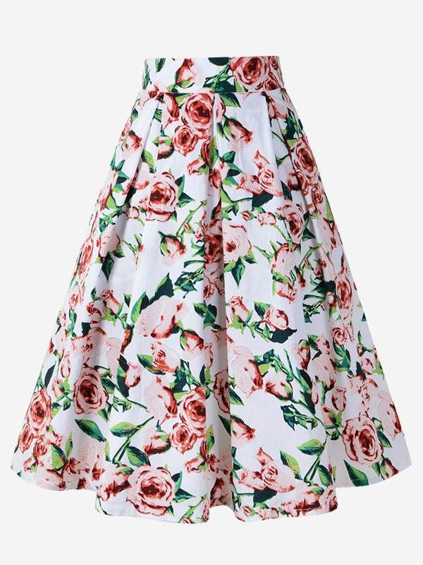 6882ec1e49 Vinfemass Floral Printing Midi Skirt. Vinfemass Floral Printing Midi Skirt  Skirts For Sale, Long Skirts For Women ...