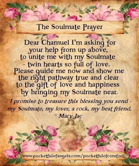 The Soulmate Prayer - Archangel Chamuel Prayer - The Prayer for true love - from 'Embracing our Angels' by Mary Jac
