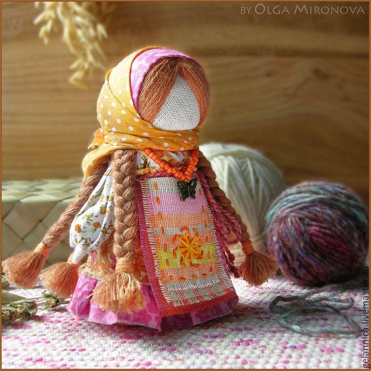 "Russian Traditional Folk Doll ""Ognevushka"" - ""Sunny""."