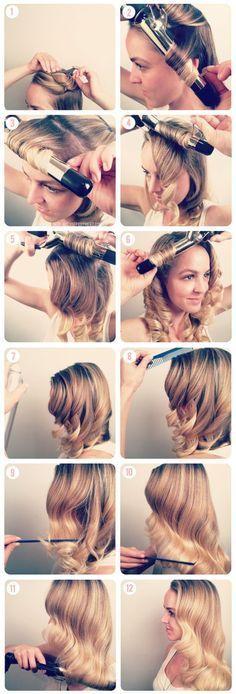 Hair: Side-Swept Wavy Hair trend & tutorial