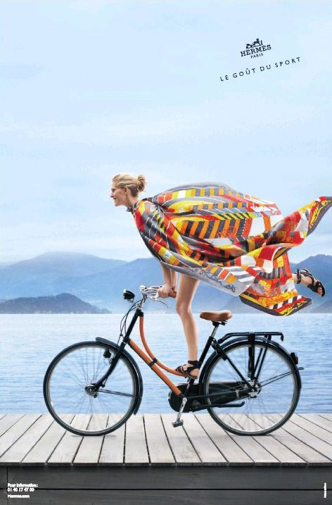 Hermès spring/summer 2013 ad campaign starring Iselin Steiro. Photographed by Nathaniel Goldberg.