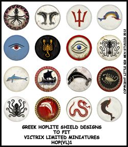 I'd quite like to give my Lamenters an Ancient Greek theme and these Hoplite shield transfers are quite inspiring.