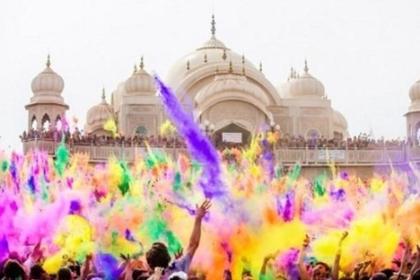 Holi, color festival celebrating the welcoming of spring ..India