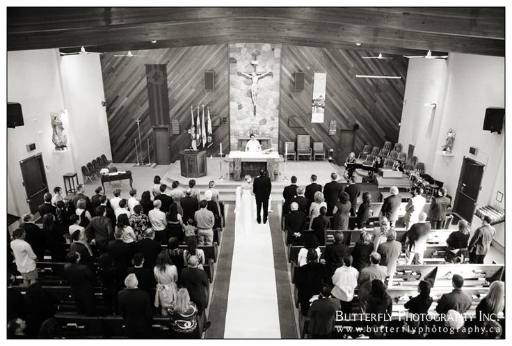 Ceremony photo at St Joseph