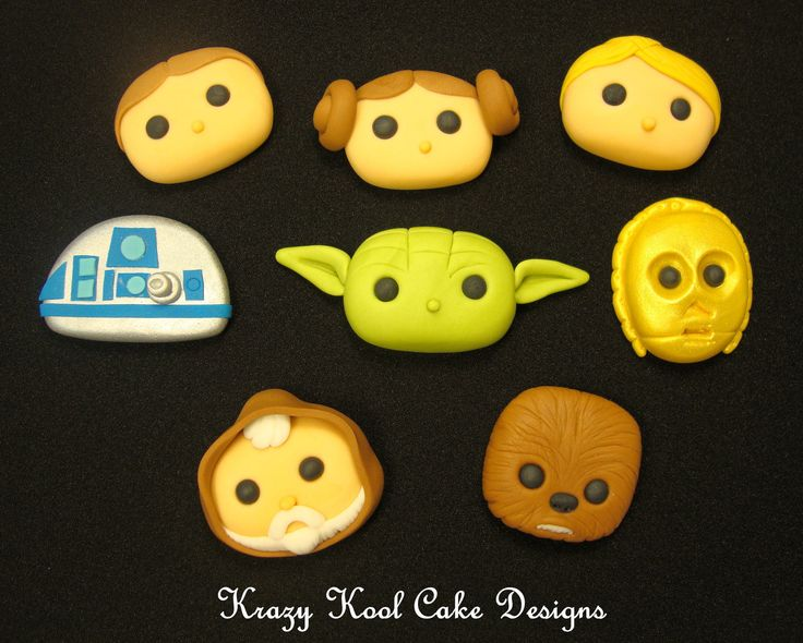 Fondant Star Wars Cake Toppers