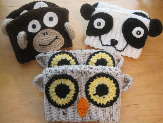 Animal Boot Cuffs for kids or adults by HookYarnNStitches on Etsy, $20.00