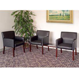 Boss Chair -  Caressoft™ Box Arm Modular Reception Chairs    global industrial